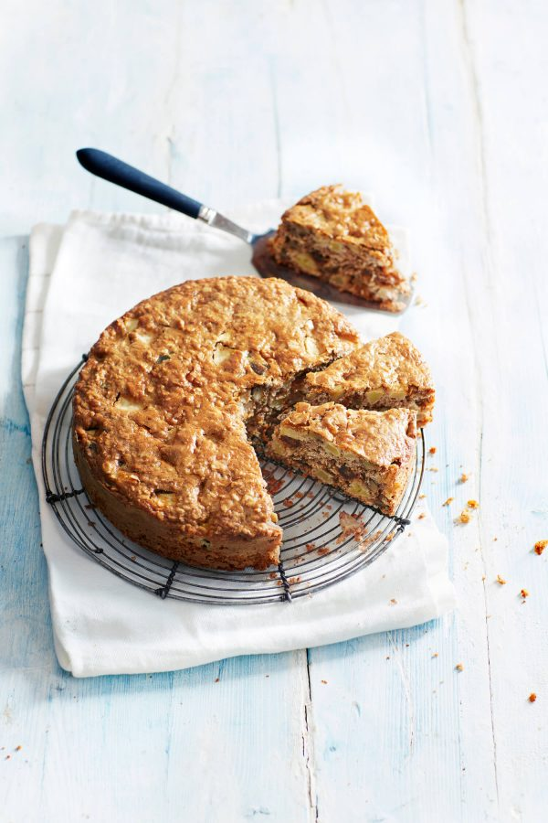 Chunky Apple, Date & Walnut Cake