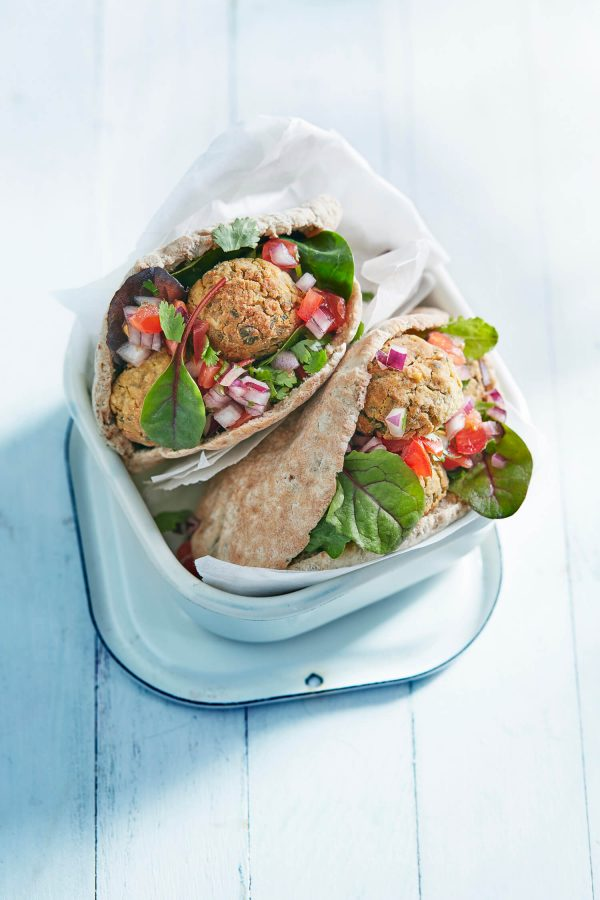 Oven-baked Falafel with Tomato Salsa
