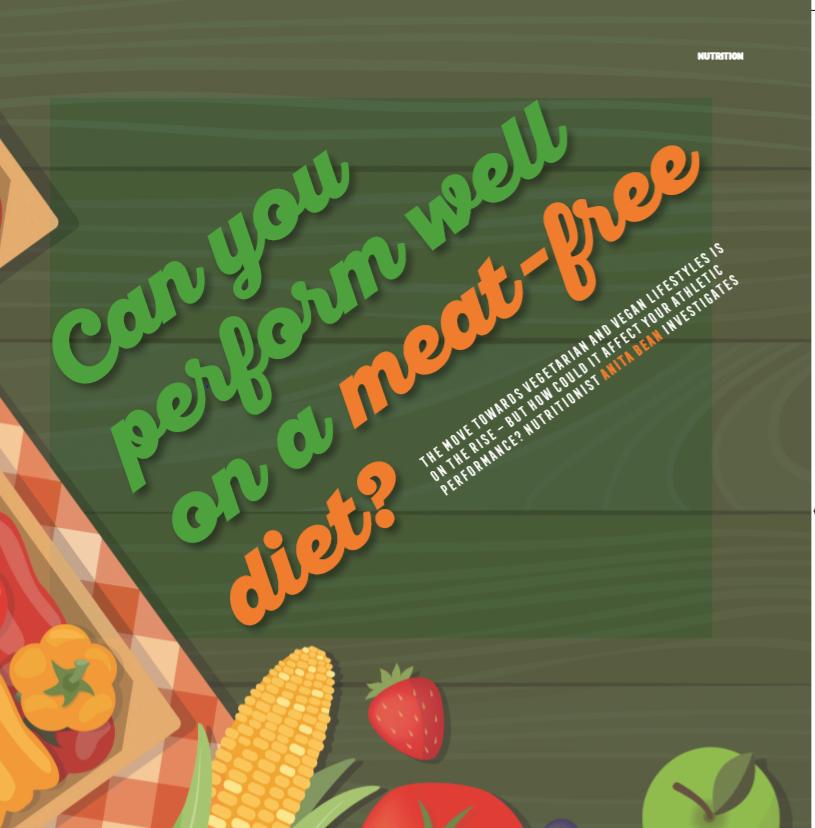 Vegetarian Diets & Running, August 2018